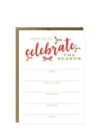 celebration invite celebrate the season fill in invitations 10 pack