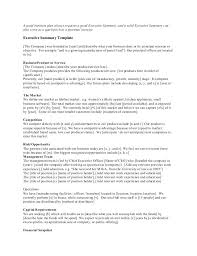 Executive Summary Outline Company Executive Summary Template Business Outline Startup