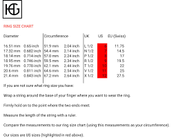Ring Size Chart Phone Ring Size Chart Haze And Glory