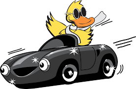 car driving fast clipart. Plain Fast Picture Freeuse Stock Quick Quack Wash Duck Mascot Driving Banner  Library Car Going Fast Clipart On Driving Fast Clipart