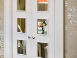 bifold closet doors with mirrors insert