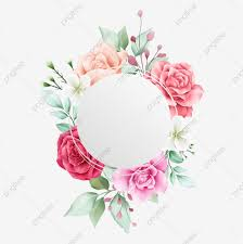 Floral Logo Design Free Download Elegant Round Watercolor Floral Frame For Wedding Logo Or