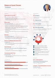 A Resume That Got Donald Trump A New Job Visulattic Your