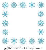 Snowflake Border Clip Art Royalty Free Gograph