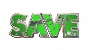 sale word sale word save money falling dollars 3d animation motion background