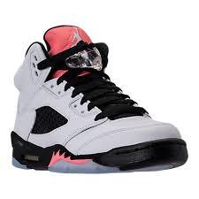 basketball shoes for girls nike black and white. nike girls\u0027 grade school air jordan retro 5 basketball shoes white/sunblush/ black for girls nike and white