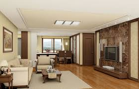 Wooden Interior Design Living Studio - 3d house interior