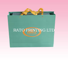 custom printed paper gift bags whole with satin ribbon handles manufacturer