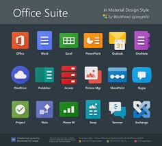 Ms Suite Office Suite In Material Design By Glange65 Deviantart Com