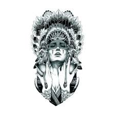 Queen Of Spades Temporary Tattoo Indians Tribal Temporary Tattoos For Girls Women Sexy Body Art Fake Tattoo 12cm X 20cm Ax71 Size 12cm By 20cm
