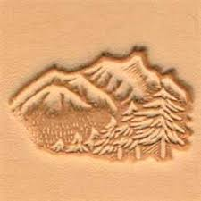 3d mountains trees leather stamp 88324 00 tandy stamping tool craft stamps tools