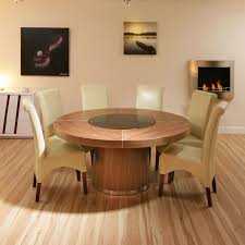 round dining table for 6 with lazy susan furniture decor 16