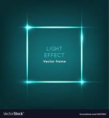 Photo Frame Light Design Frame Light Effect On Dark Blue Background