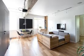 compact apartment furniture. Wooden Floor And Sofa Living Room Modern Ideas Bookshelf With Furniture For Small Spaces Studio Apartments Compact Apartment I