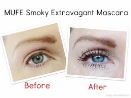 mufe smoky extravagant mascara review pics and swatches prime beauty