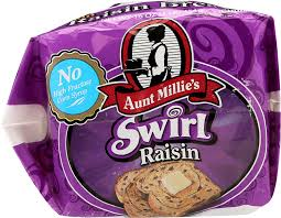 Aunt Millie S Light Whole Grain Bread Nutrition Aunt Millies Bread Whole Grain Cinnamon Raisin 16 Ounce