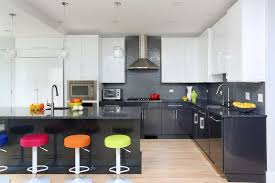 sleek and modern two tone kitchen cabinets
