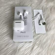 Tai nghe bluetooth không dây Inpods Pro 4 TWS cảm ứng điều khiển cảm biến  âm thanh HIFI cho Android iOS Hàng Xịn
