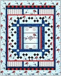 7 best hockey quilts images on Pinterest | Quilt block patterns ... & Slap+Shot+Stonehenge+Face+Off+Quilt+Kit+by+ Adamdwight.com