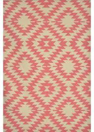 pink aztec rug beige pink hand woven pink aztec area rug