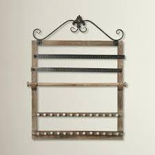 wall mount jewelry holder wood wall mounted jewelry holder black metal wall mounted jewelry holder organizer