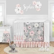 sweet bunny 4 piece crib bedding set