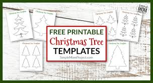 create your own christmas cards free printable free printable christmas tree template cut outs simple mom