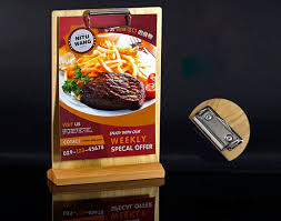 Wooden Menu Display Stands Amazing A32 Restaurant Retro Wooden Clip Price Tag Display Stand Table Sign