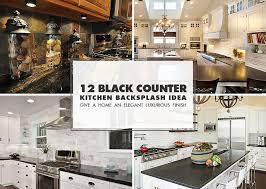 black countertop backsplash ideas