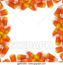 candy corn clip art border. Fine Art Halloween  Candy Corn Border With Clip Art E
