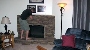 install faux stone fireplace installing faux stone fireplace surround round designs diy