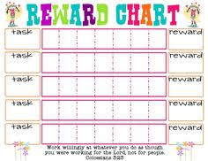 111 Best Printable Reward Charts Template Images Printable Reward