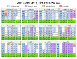 term dates great marlow