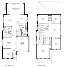two story house plans narrow lots homes zone