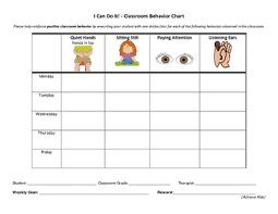 Positive Reinforcement Charts For Kids Positive Behavior Chart Worksheets Teaching Resources Tpt