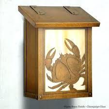 horizontal wall mount mailbox horizontal wall mounted mailbox crab select options a crab large wall mount