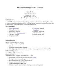 Internship Resume Sample Monster Com Best Format For Mba Student