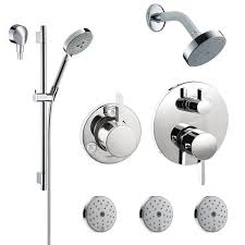 hansgrohe shower valve. Chrome S Shower Faucet With Thermostatic / Volume Control Trim, Diverter Head, Arm, Hand Shower, Wall Bar, Body Sprays Hansgrohe Valve U
