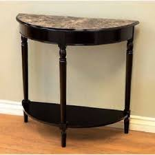 half moon table. Image Is Loading Faux-Marble-Top-Accent-Table-Half-Moon-Stand- Half Moon Table