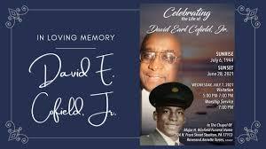 Celebrating the Life of David E. Cofield, Jr. - YouTube