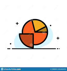 Pie Graph Template Analytics Chart Pie Graph Business Flat Line Filled Icon