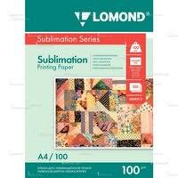 «<b>Сублимационная</b> матовая <b>бумага</b> A4 (100 листов) (<b>Lomond</b> ...