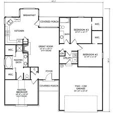 3 Bedroom 2 Bath House Plans Cool Decorating Design