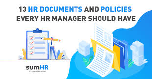 13 Hr Documents And Policies Every Hr Manager Should Have