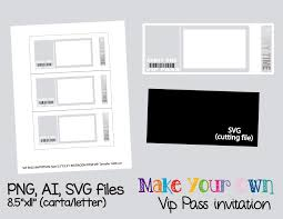 Template For Picture Collage Vip Pass Invitation Template Collage Sheet Template Digital Template Collage Template Printable Template Collage Digital Png Ai Svg