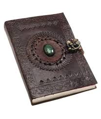habeeb bags leather journal diary with engraved stone metal lock brown 7 x 5 inch at best in india snapdeal