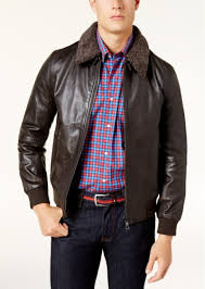 mens size m full zip faux leather jacket water tommy hilfiger outerwear tommy