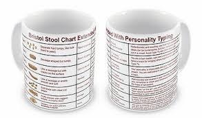 Bristol Stool Chart Mug Novelty Joke Mug In German