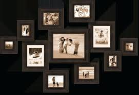 large collage picture frames for wall modern interior design with family photo collage frame on wall