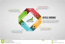 Four Cycle Arrows Infographic Stock Vector Illustration Of